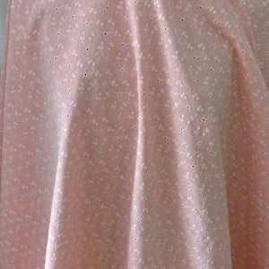 Embroidered Cotton-Pink-$24.00/metre