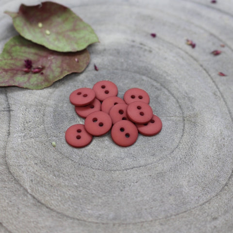 Atelier Brunette Matt Buttons-Terracotta - 15mm