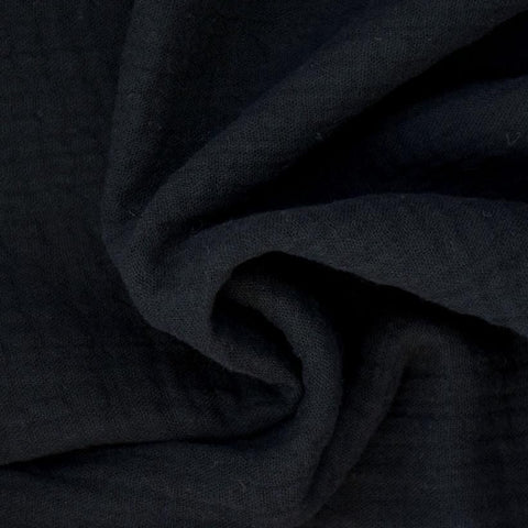 Double Gauze- Black-$22.00/metre