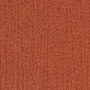 GOTS COTTON DOUBLE GAUZE - Terracotta- $22.00/metre