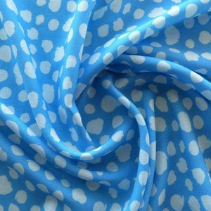 Lady McElroy Viscose Linen Chambray - Blue - $34.00/metre
