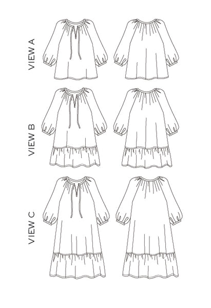 True Bias Paper Pattern - Roscoe Dress