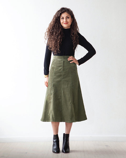 True Bias Paper Pattern- Salida Skirt