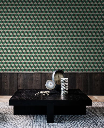 Tektura Talk  Wallcoverings Cubiq Blocks Green
