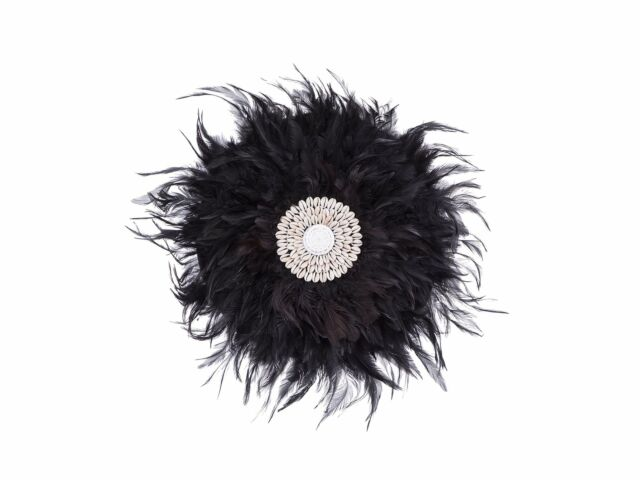 Boho black JUJU Feather - Wall hanging | Iconic Online |