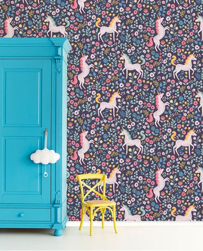 Eijffinger Wallcoverings Kids Mini me Unicorns