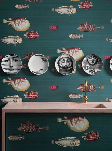 Cole and Son wallcoverings Fornasetti acquario