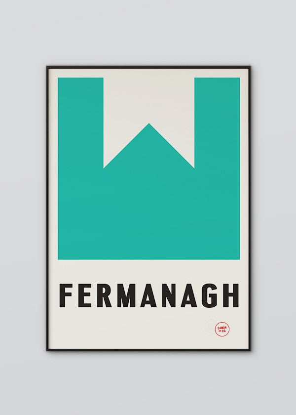 Sport Inspired High Quality Print County Fermanagh