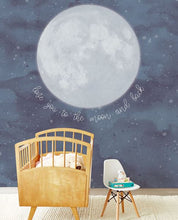 Load image into Gallery viewer, Eijffinger wallcoverings mural kids To the moon and back