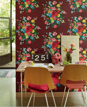 Load image into Gallery viewer, Eijffinger Burgundy Floral Mural Pip Studio Wallcovering