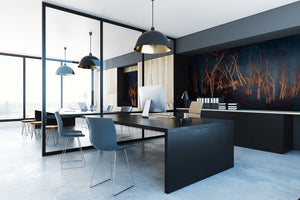 Tektura talk Wallcoverings Mural kigi midnight by kata lips