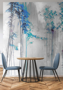 Tektura talk Wallcoverings Mural Shirin blue by kata lips