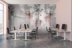 Tektura talk Wallcoverings Mural Shirin dusk by kata lips