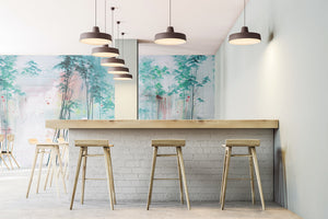 Tektura talk Wallcoverings Mural Shirin wild by kata lips set in room