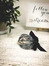 Load image into Gallery viewer, Black Sequin Bracelet
