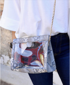 Snap Clear Crossbody Purse