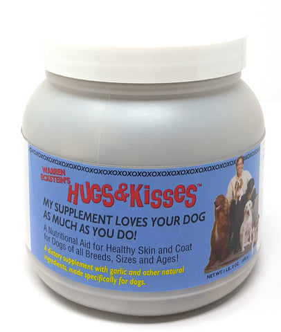 Hugs & Kisses Vitamin Mineral Supplement Treat for Dogs Medium Jar