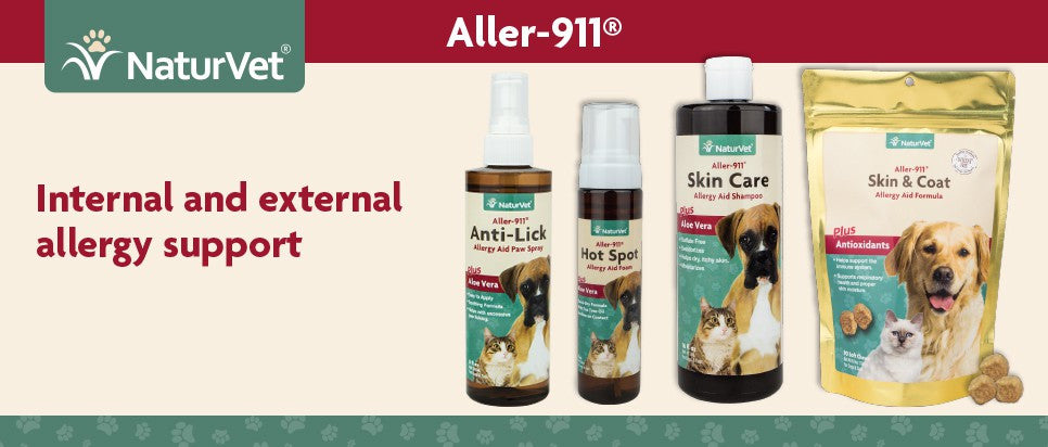 NaturVet Aller 911 Allergy Aid Anti Paw Lick Hot Spot