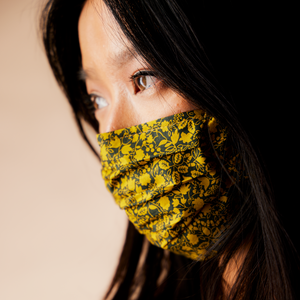 BRAVE YELLOW - HANDMADE 100% COTTON REUSABLE FACE MASK