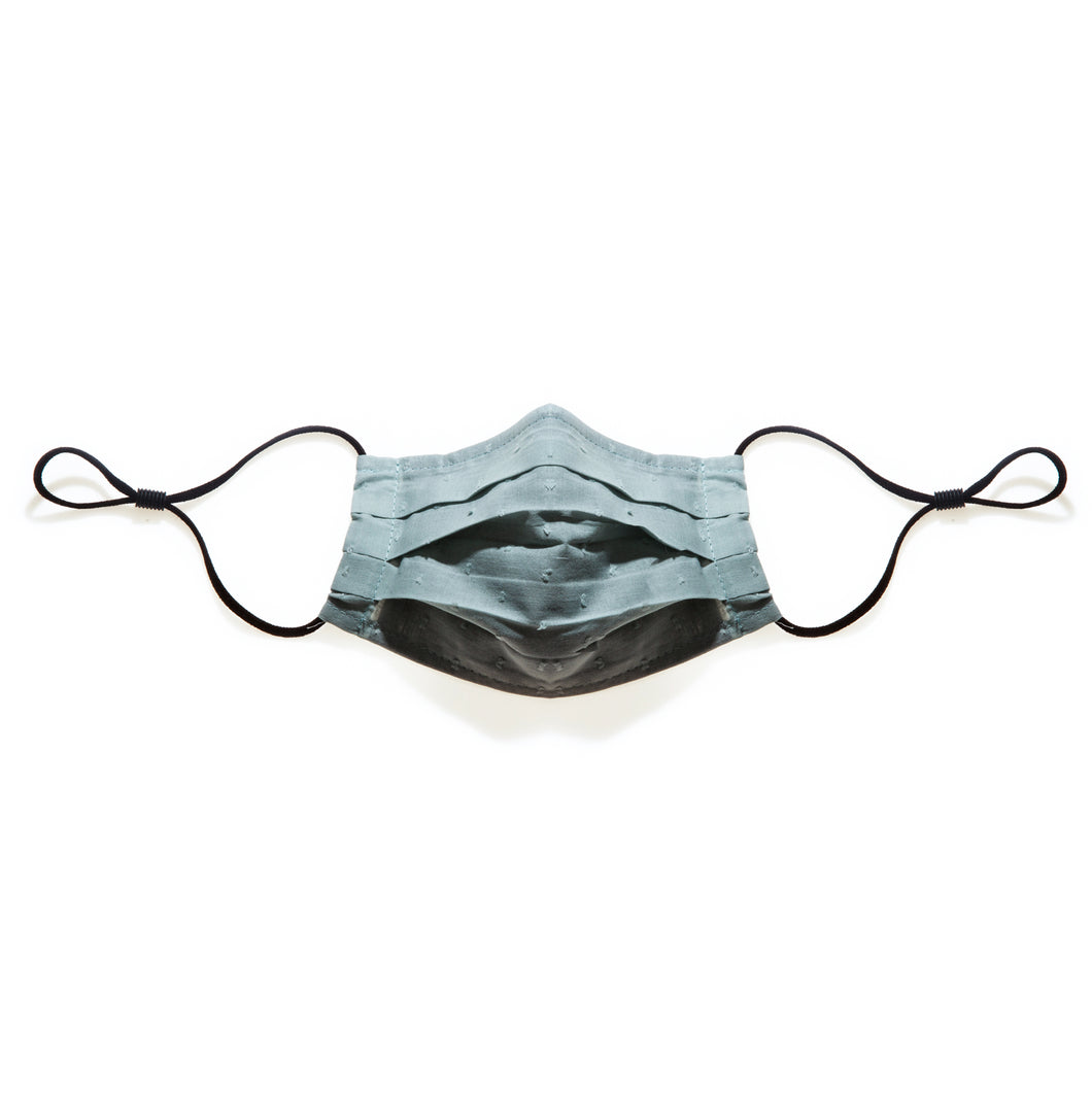 BROOK GREEN - HANDMADE 100% COTTON REUSABLE FACE MASK