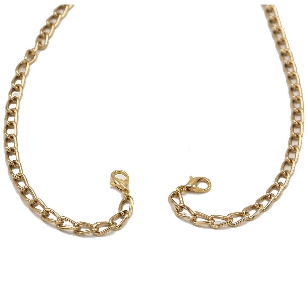 Gold Curb Chain - 6mm