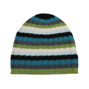 STRIPED CASHMERE SLOUCHY HAT IV