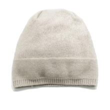 Load image into Gallery viewer, IVORY CASHMERE BEANIE HAT