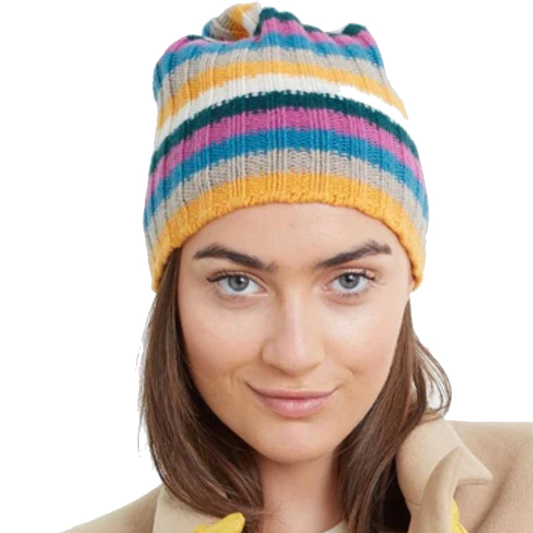 Striped Cashmere Slouchy Hat 4