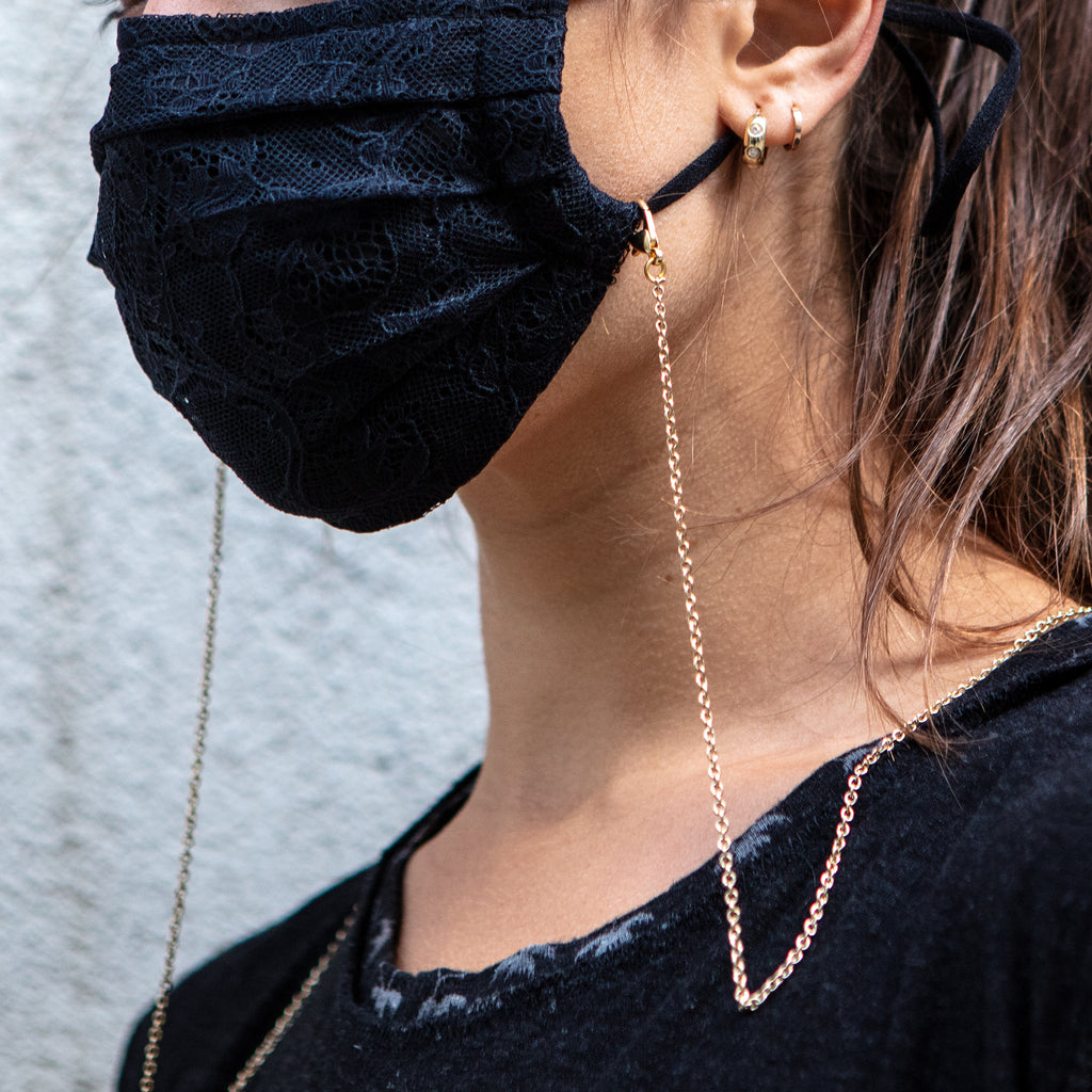 Gold Face Mask Chains