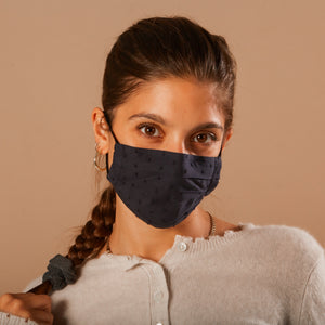 NAVY - HANDMADE 100% COTTON REUSABLE FACE MASK