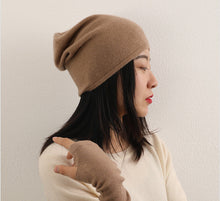 Load image into Gallery viewer, CASHMERE BEANIE HAT - CAMEL