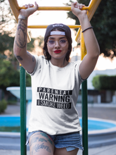 Load image into Gallery viewer, Parental Warning Unisex Fitted Tee - The CannaButta Shop