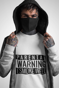 Parental Warning Unisex Fitted Tee - The CannaButta Shop