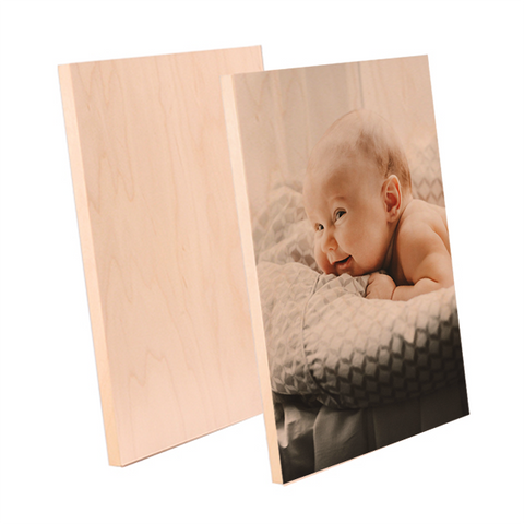 "ChromaLuxe Sublimation Blank Natural Wood Photo Panel - 5"" x 7"""