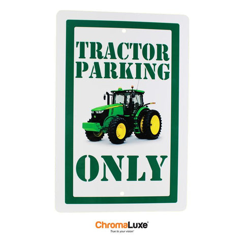 "ChromaLuxe Sublimation Blank Exterior Aluminum Parking Sign w/Holes - 12"" x 18"" - Gloss White"