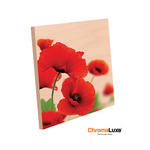 "ChromaLuxe Sublimation Blank Natural Wood Photo Panel - 8"" x 8"""
