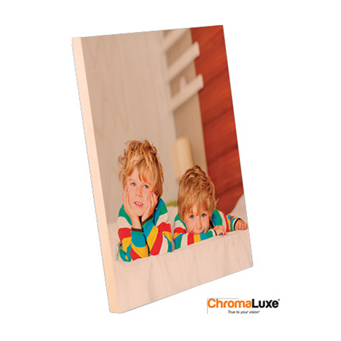 "ChromaLuxe Sublimation Blank Natural Wood Photo Panel - 8"" x 10"""