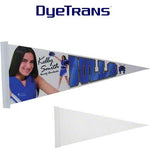"DyeTrans Sublimation Blank Felt Pennant - 8"" x 18"" - 10-Pack"