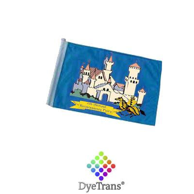 "DyeTrans Sublimation Blank Car Flag - 7.5"" x 10.5"" - Double-Ply - No Pole"
