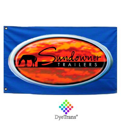 "DyeTrans Sublimation Blank Flag - 36"" x 60"" - Single-Ply - No Pole"