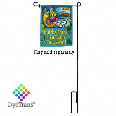 "39.25"" Garden Flag Hanger Pole -Wrought Iron Stake"