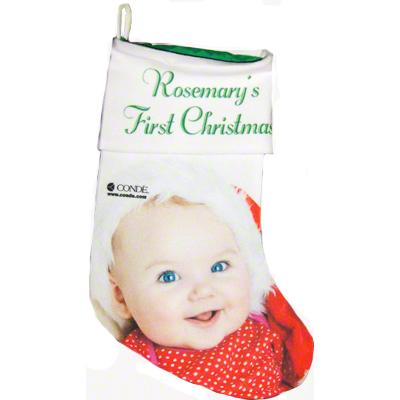 "13.5"" Gaming Cloth Green Lined Holiday Stocking"