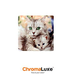 "ChromaLuxe Sublimation Blank Aluminum Photo Panel - 8"" x 8"" - Gloss White"