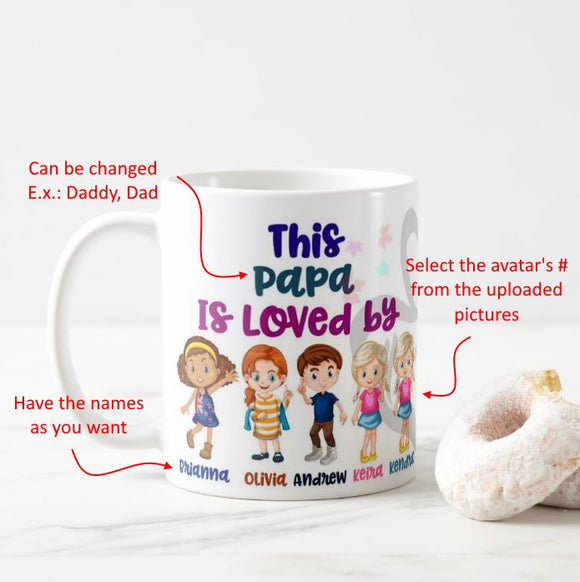 Personalized Character Kids Cartoon Avatar Mug This person is Loved By Mug - RazKen Gifts Shop