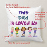 Personalized Avatar Children Gift to Anyone, Nana, Grandma, Grandpa, Pops is Loved By Pillow - RazKen Gifts Shop