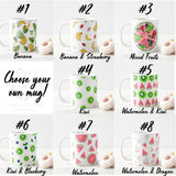 Fruits and berries watercolour design, choose your own, 8 designs, gift for all Mug - RazKen Gifts Shop - 1 Day Processing time - Fast Shipping