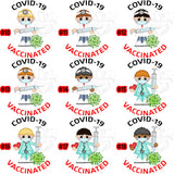 COVID VACCINATED Button Pin Personalized Avatar Covid-19, Gift for Nurse, Workers, Doctor - RazKen Gifts Shop