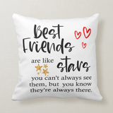 New Design Best Friends Are Like Stars You Don't See Them, Besties, Best Friend Pillow - RazKen Gifts Shop