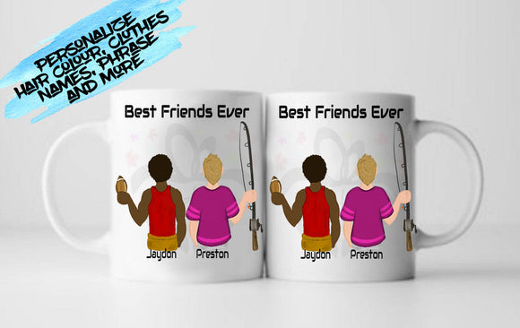 Personalized Gift for Bro Friend, Best Friend Birthday, Brother, Dude, Besties Design Your own Mug - RazKen Gifts Shop - 1 Day Processing time - Fast Shipping