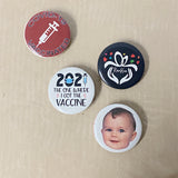 Personalized Button Pins Custom Your Own Design, Image, Picture Text - RazKen Gifts Shop